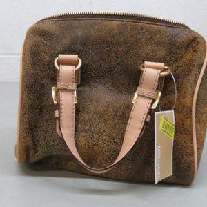 Michael Kors Bags - Michael Kors GRAYSON Mocha Leather Hand Bag